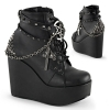 POISON-101 Black Vegan Leather